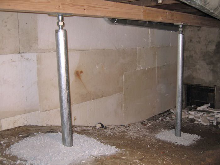 Crawl space joist repair troy albany schenectady for Crawl space foundation design