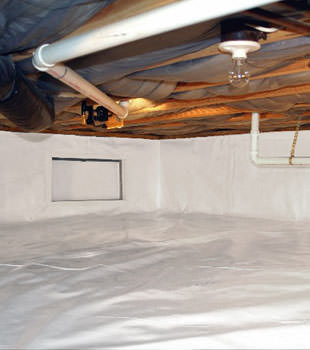 A complete crawl space repair system in Saratoga Springs