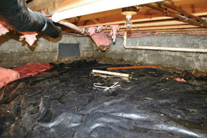 Crawl Space Repair Before in Schenectady