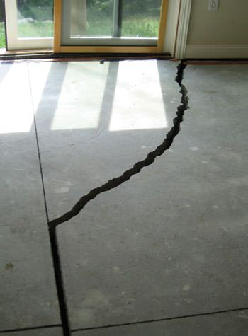 severely cracked foundation slab floor in Castleton On Hudson