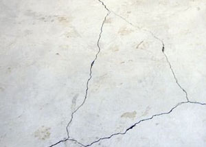 cracks in a slab floor consistent with slab heave in Gansevoort.