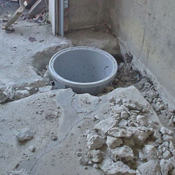 Placing a sump pit in a Glens Falls home