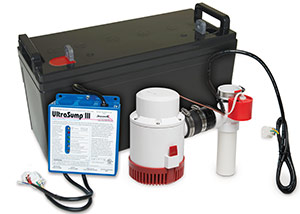 a battery backup sump pump system in Rensselaer