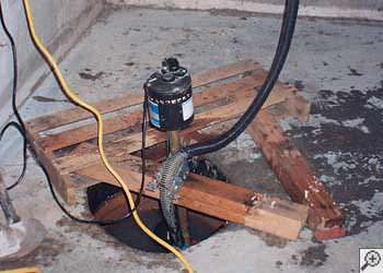 A Glens Falls sump pump system that failed and lead to a basement flood.