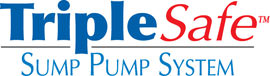 Sump pump system logo for our TripleSafe, available in areas like Slingerlands