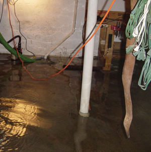 Foundation flooding in a Gloversville,New York home