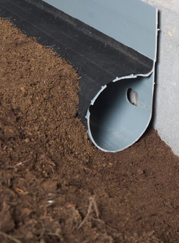 crawl space drain system installed in Cobleskill