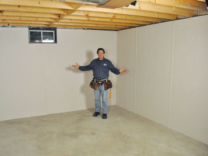 ... Ballston Spa basement insulation covered by EverLast™ wall paneling with SilverGlo™ insulation underneath & Finished Basement Wall Insulation | Albany Schenectady Troy