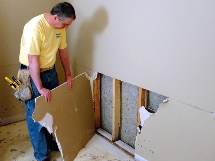 Genial EverLast™ Wall Restoration For A Drywall Repair; Drywall Repair Installed  In Altamont; Basement ...